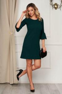 Rochie verde scurta cu un croi drept