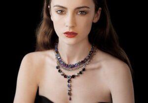 Coliere dama cu Pietre Semipretioase si Cristale Swarovski
