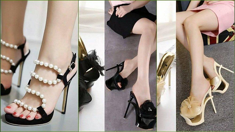 sandale elegante cu toc inalt