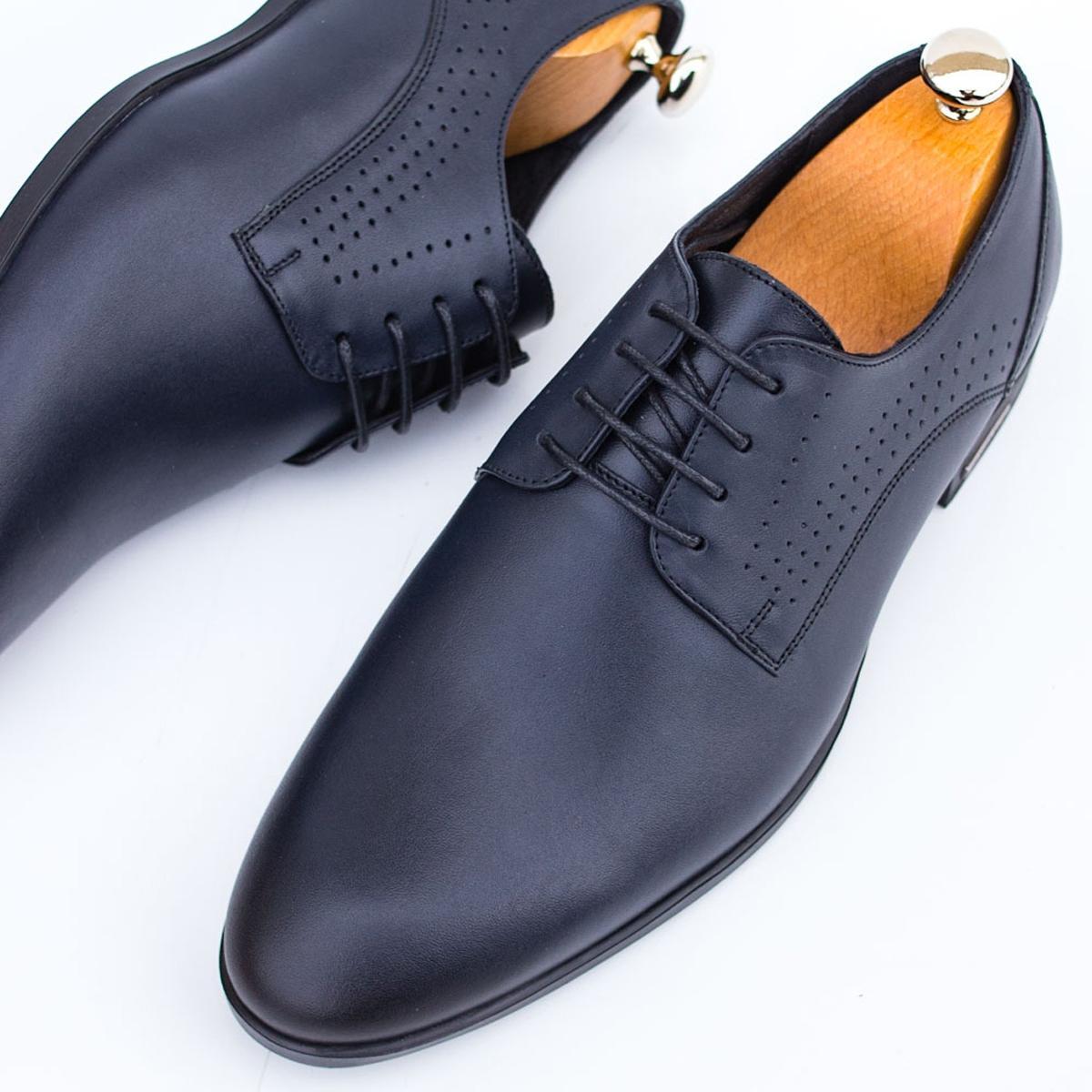 Pantofi Piele barbati albastri Vicenze