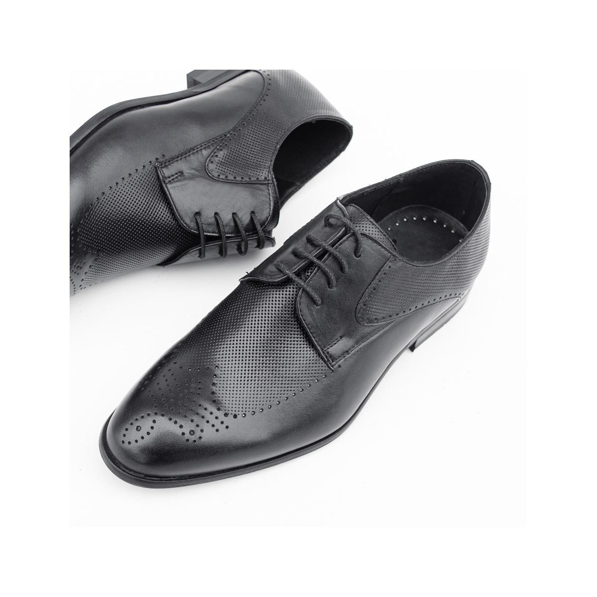 Pantofi Piele barbati negri Sebino