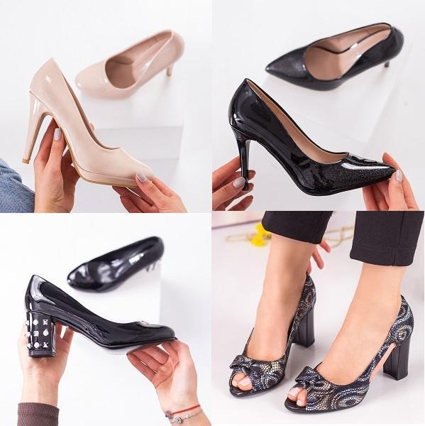 Pantofi de dama cu toc ieftini