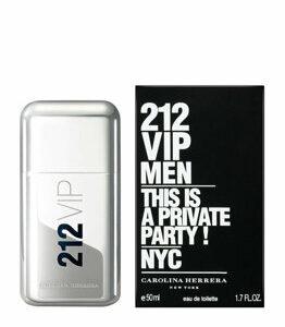 Apa de toaleta Carolina Herrera VIP 212 , 50 ml, pentru barbati