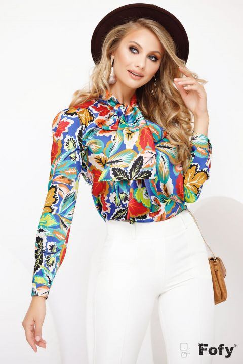 bluza-satinata-cu-print-multicolor