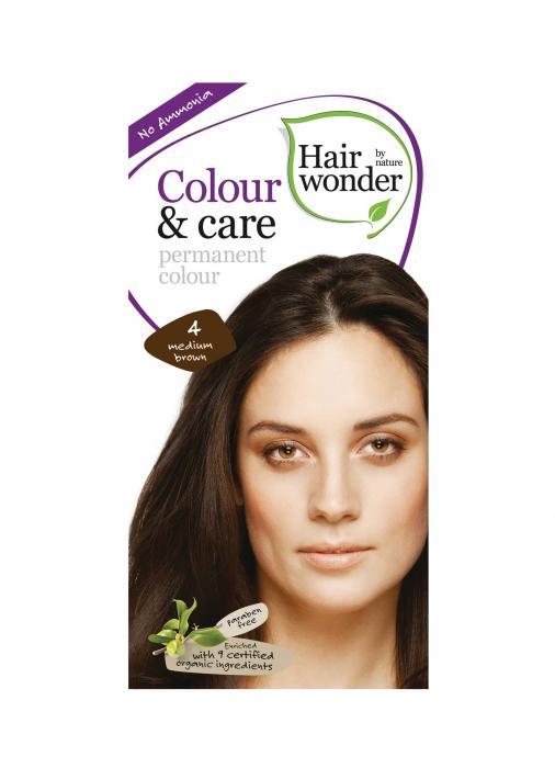 Vopsea Par Hair Wonder-4 Medium Brown Fara Amoniac HennaPlus