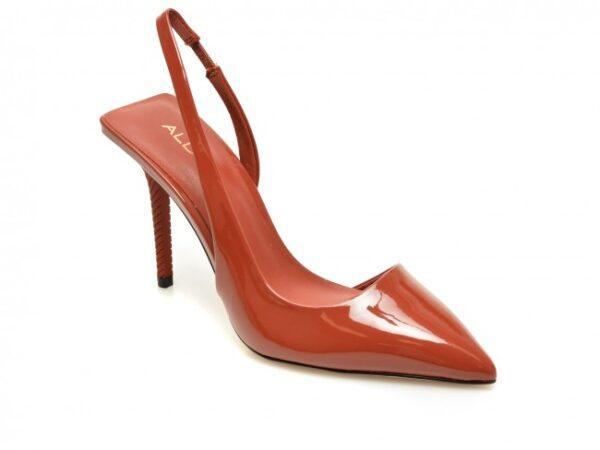 pantofi aldo rosii tirarith din piele ecologica