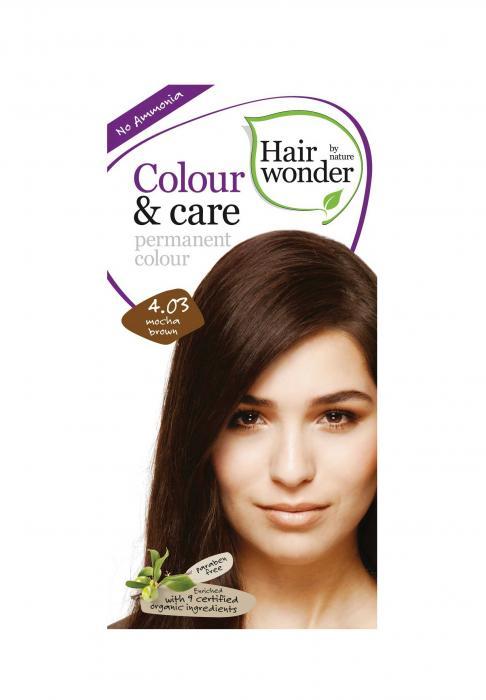 Vopsea Par Hair Wonder-4.03 Mocha Brown Fara Amoniac HennaPlus