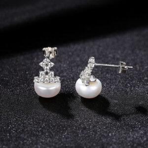 Cercei AG925 cu perle naturale Marisol