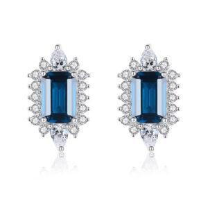 Cercei albastri din argint Elena