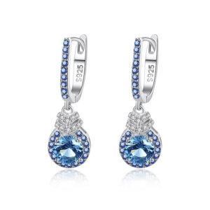 Cercei albastri din argint 925 Anastasia