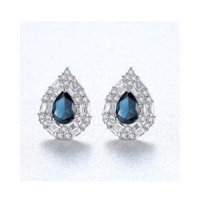 Cercei albastri din argint Ariana Blue