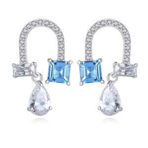Cercei albastri din argint Chantelle