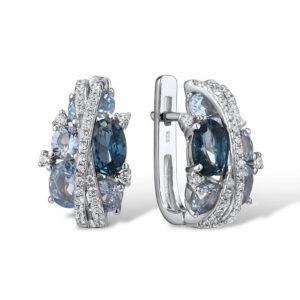 Cercei din argint Royal Blue Grace