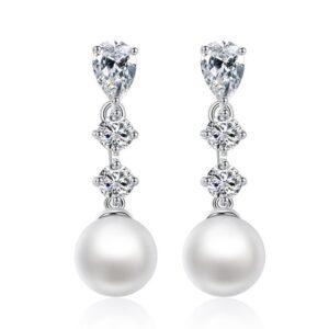 Cercei Perle si cristale Swarovski Ellen