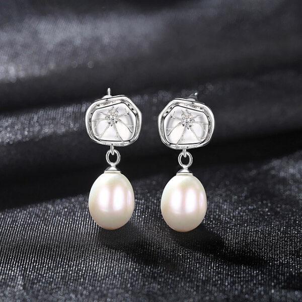 Cercei cu perle naturale Greta