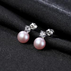 Cercei perle naturale mov Lisa