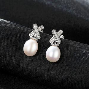 Cercei cu perle naturale Raina