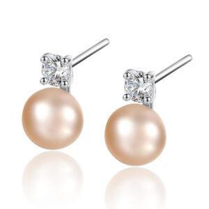 Cercei cu perle naturale roz Lisa