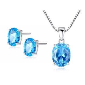 Set bijuterii argint cu piatra Topaz Melody