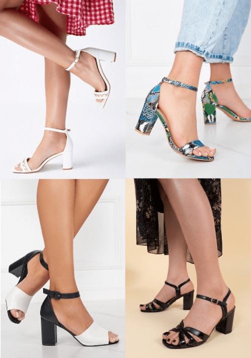 Sandale dama cu toc ieftine online