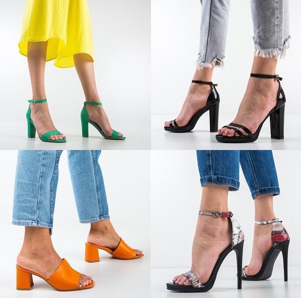 Sandale dama elegante cu toc ieftine