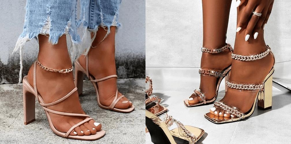 Sandale dama cu toc deosebite