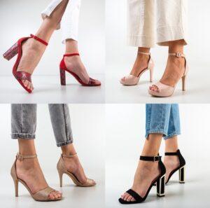 Sandale dama cu toc ieftine